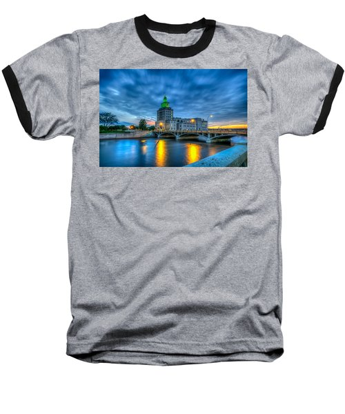 Cedar Rapids Mays Island At Sunset Baseball T-Shirt
