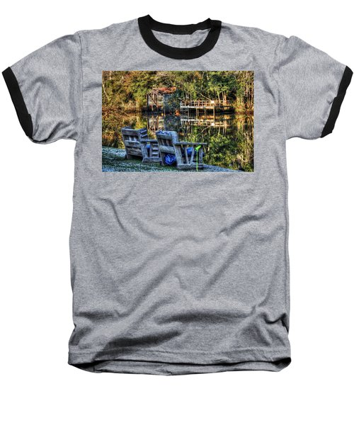 2 Chairs On The Magnolia River Baseball T-Shirt
