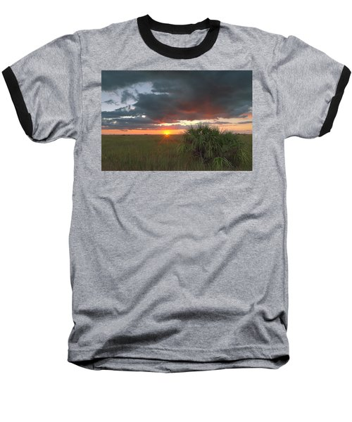Chekili Sunset Baseball T-Shirt