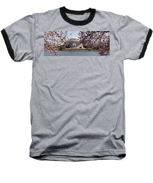 Cherry Blossom Trees In The Tidal Basin Baseball T-Shirt by Panoramic Images