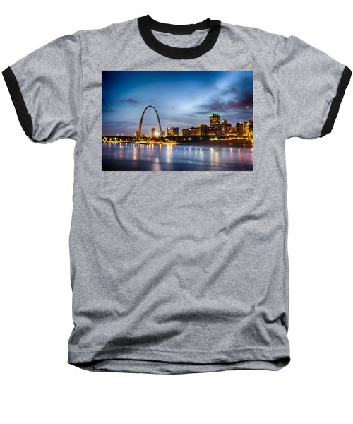 City Of St. Louis Skyline. Image Of St. Louis Downtown With Gate Baseball T-Shirt