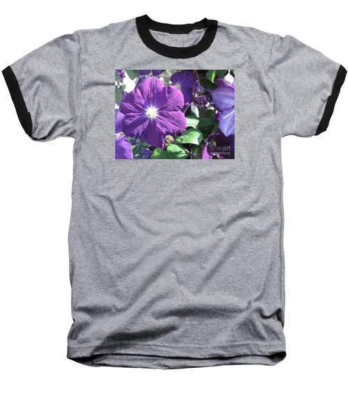 Clematis With Blazing Center Baseball T-Shirt