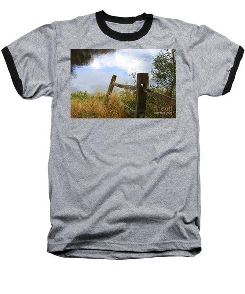 Cloud Reflections Baseball T-Shirt by Deborah Benoit