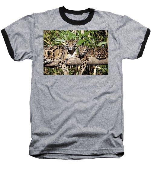 Clouded Leopards Baseball T-Shirt