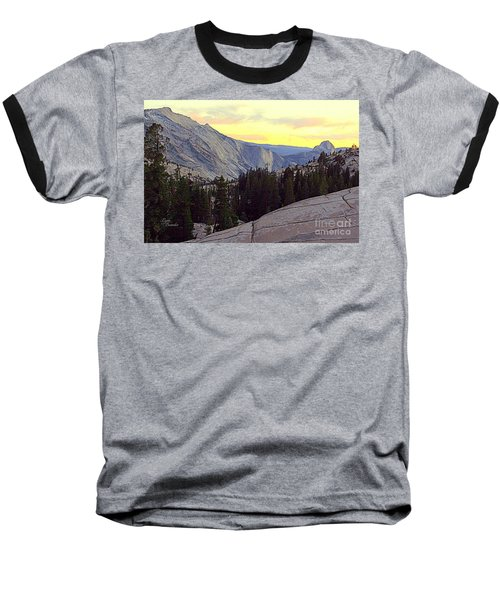 Cloud's Rest And Half Dome Baseball T-Shirt
