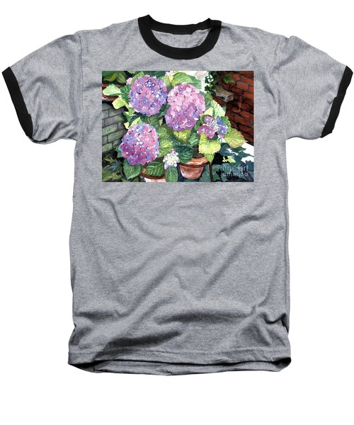 Corner Garden Baseball T-Shirt by Barbara Jewell