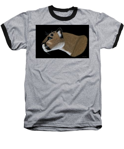 Cougar Portrait Baseball T-Shirt