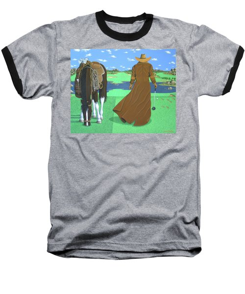 Cowboy Caddy Baseball T-Shirt
