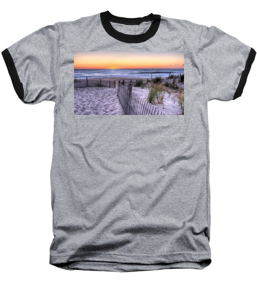 Dewey Beach Sunrise Baseball T-Shirt