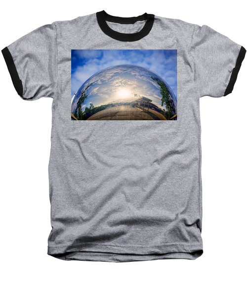 Distorted Reflection Baseball T-Shirt by Sennie Pierson