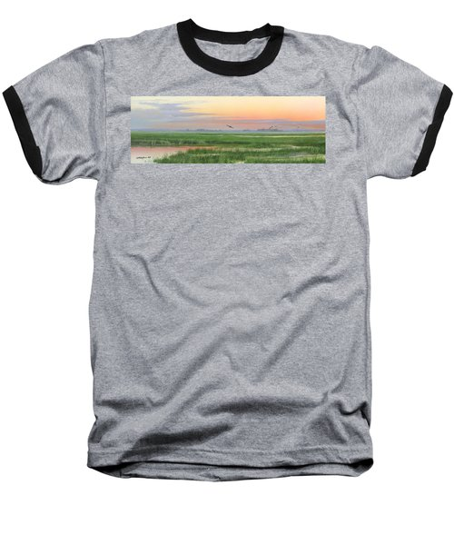 Baseball T-Shirt featuring the painting Divine Whisper by Mike Brown