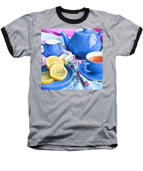 Do You Take Lemon? Baseball T-Shirt by Theresa Tahara