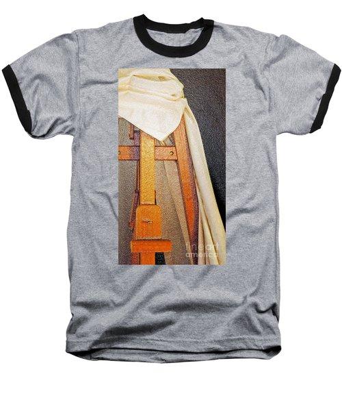 Draped Easel Baseball T-Shirt by Lilliana Mendez