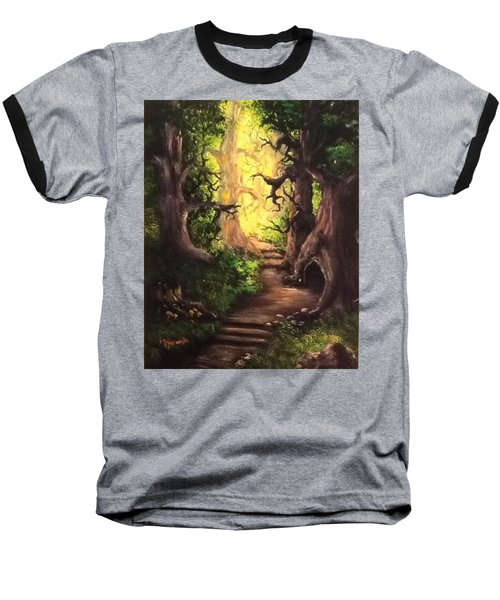 Druid Forest Baseball T-Shirt by Megan Walsh