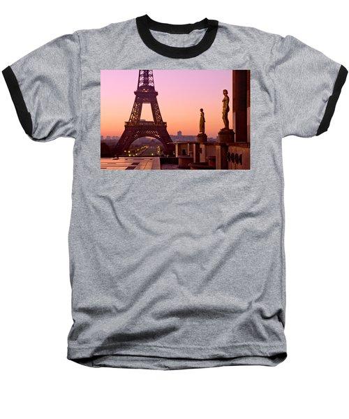Eiffel Tower At Dawn / Paris Baseball T-Shirt