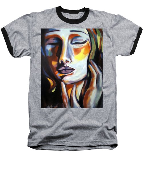 Baseball T-Shirt featuring the painting Emotion by Helena Wierzbicki