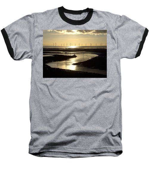 Evening Low Tide  Baseball T-Shirt