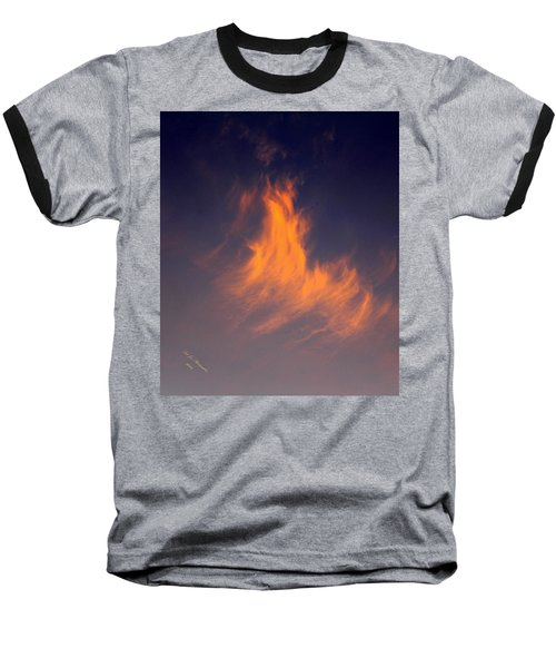 Baseball T-Shirt featuring the photograph Fire In The Sky by Jeanette C Landstrom