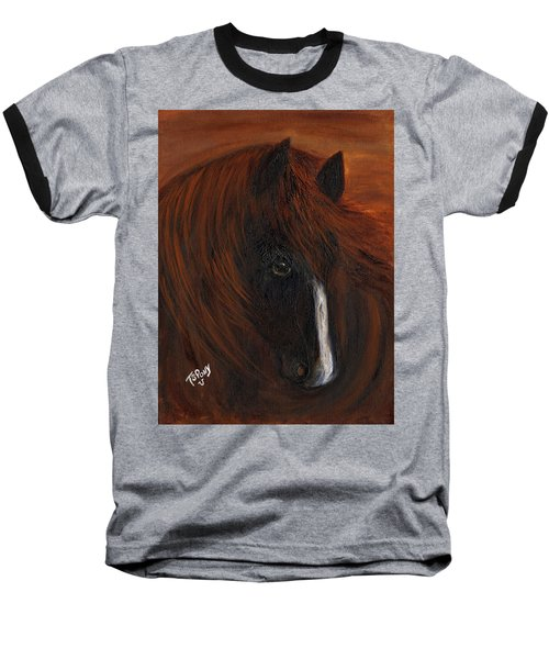 Baseball T-Shirt featuring the painting Firestorm by Barbie Batson