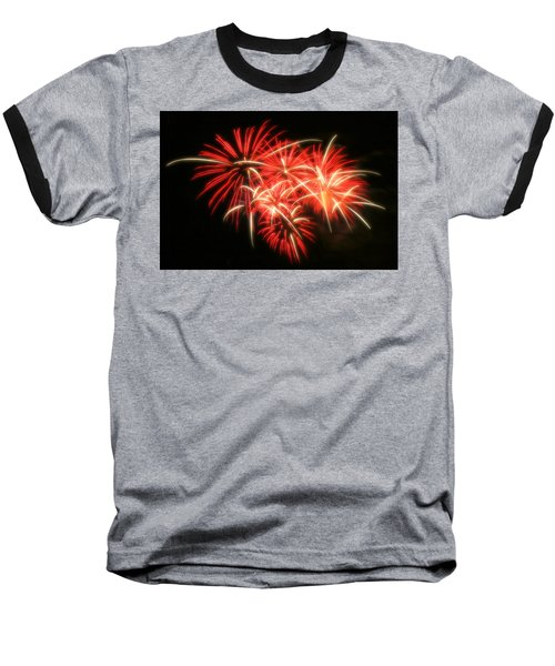 Fireworks Over Kauffman Stadium Baseball T-Shirt