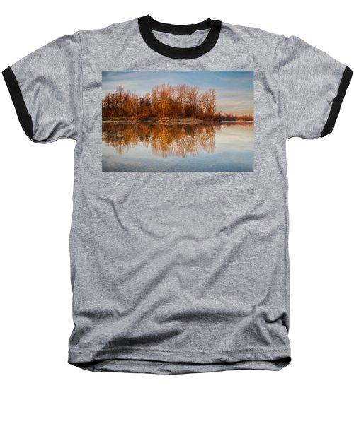 Baseball T-Shirt featuring the photograph First Light by Davorin Mance