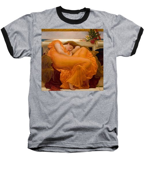Flaming June Baseball T-Shirt by Frederick Leighton