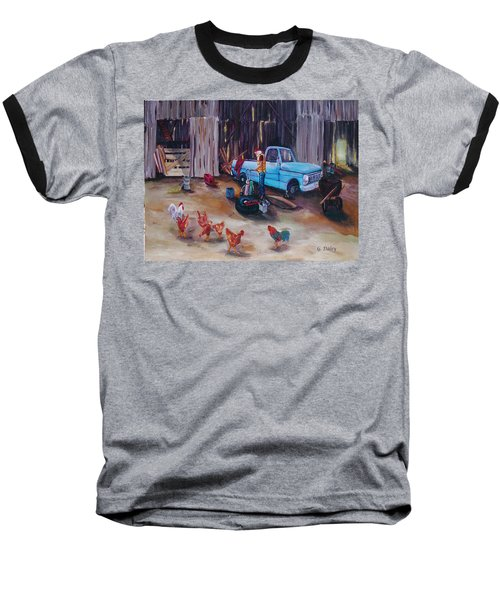 Flat Tire Baseball T-Shirt