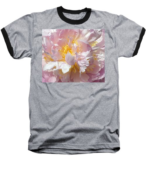 Baseball T-Shirt featuring the photograph Flirtatious Pink by Lilliana Mendez
