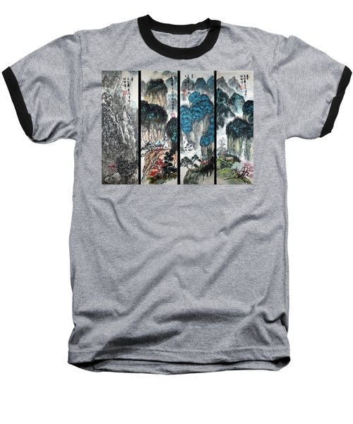 Baseball T-Shirt featuring the photograph Four Seasons In Harmony by Yufeng Wang