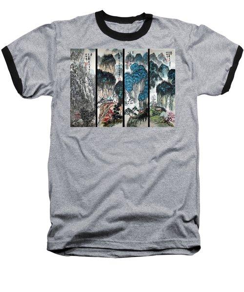 Four Seasons In Harmony Baseball T-Shirt by Yufeng Wang