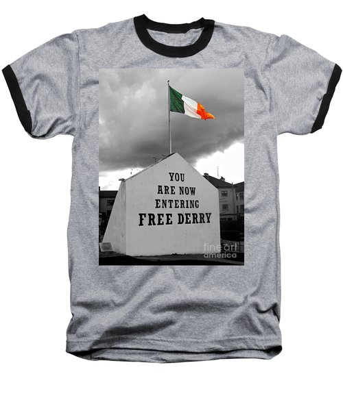 Free Derry Wall 1 Baseball T-Shirt
