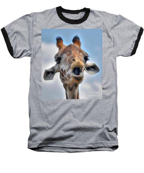 Baseball T-Shirt featuring the photograph Giraffe  by Savannah Gibbs
