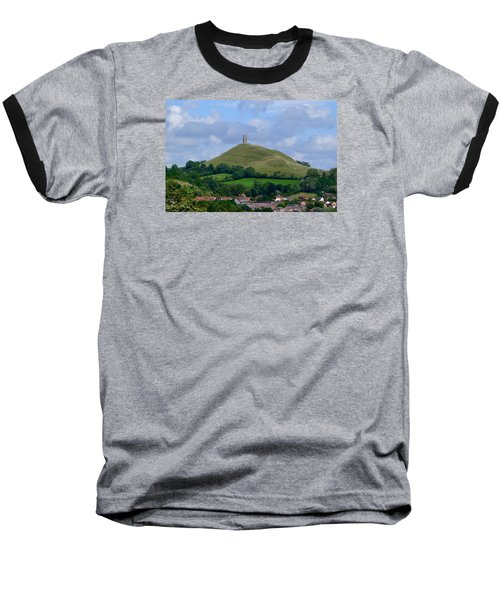 Glastonbury Tor Baseball T-Shirt