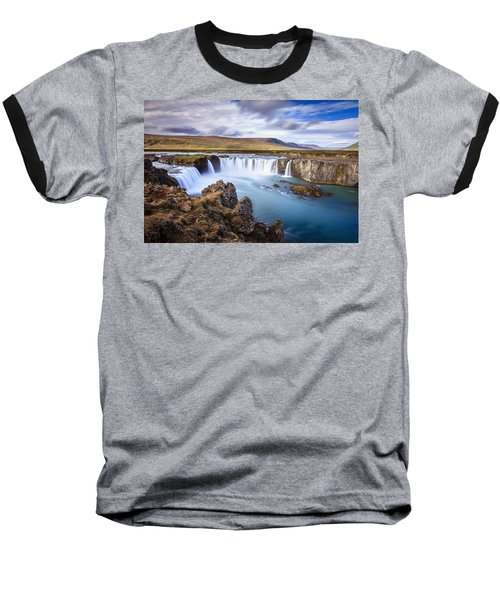 Godafoss Waterfall Baseball T-Shirt by Alexey Stiop