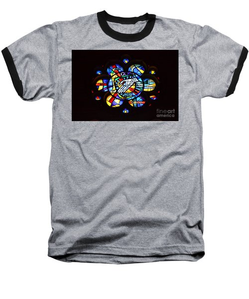 Grace Cathedral Baseball T-Shirt by Dean Ferreira