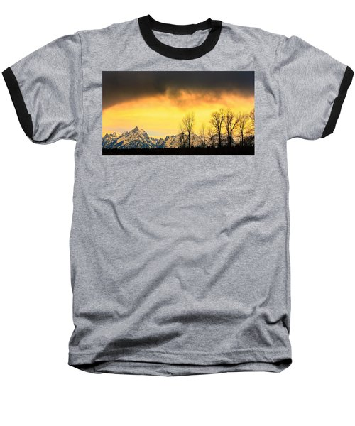 Baseball T-Shirt featuring the photograph Grand Tetons Wyoming by Amanda Stadther
