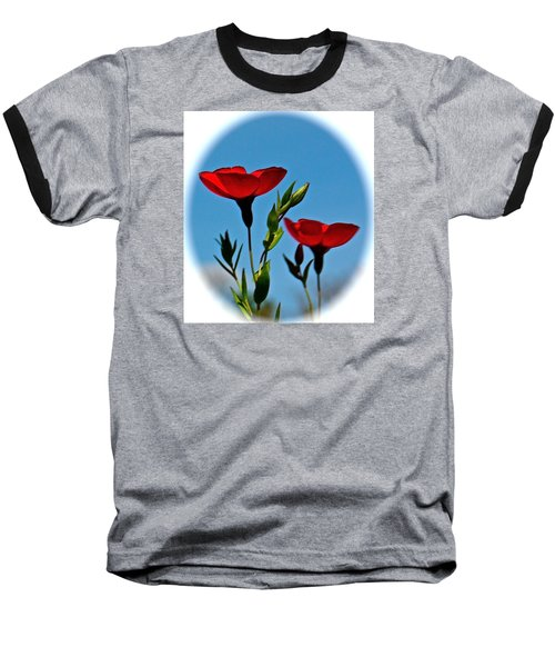 Flower 6 Baseball T-Shirt