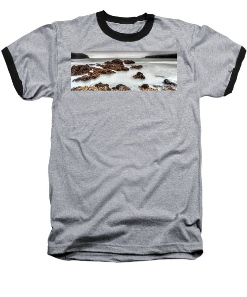 Grey Morning Baseball T-Shirt by Steven Reed