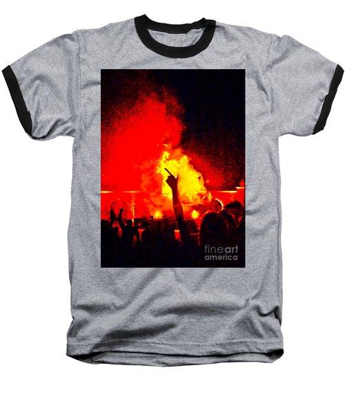 Baseball T-Shirt featuring the photograph Guns-up Salute by Mae Wertz