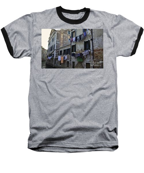 Hanging Out To Dry In Venice Baseball T-Shirt by Madeline Ellis