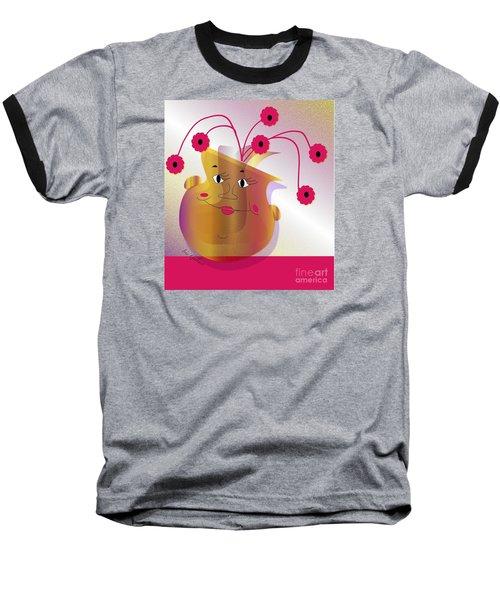 Baseball T-Shirt featuring the digital art Happy Dance by Iris Gelbart