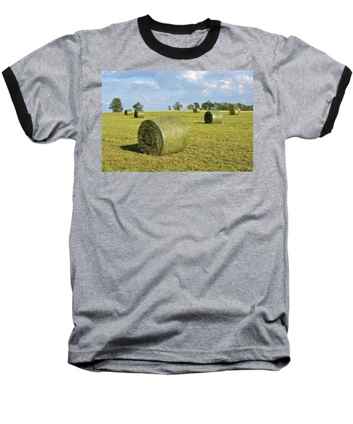 Hay Bales In Spring Baseball T-Shirt