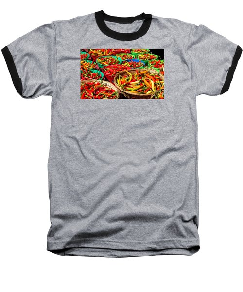 Healthy Chili Peppers Baseball T-Shirt