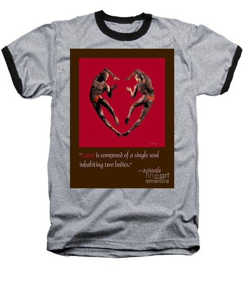 2 Hearts Dancers Poster Baseball T-Shirt