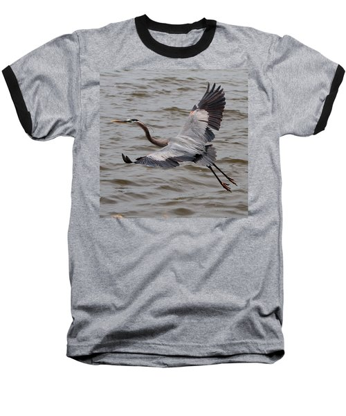 Heron In Flight. Baseball T-Shirt