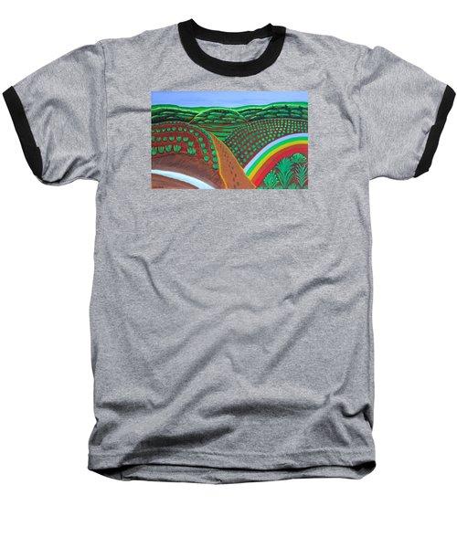 Hidden Forest Baseball T-Shirt by Lorna Maza