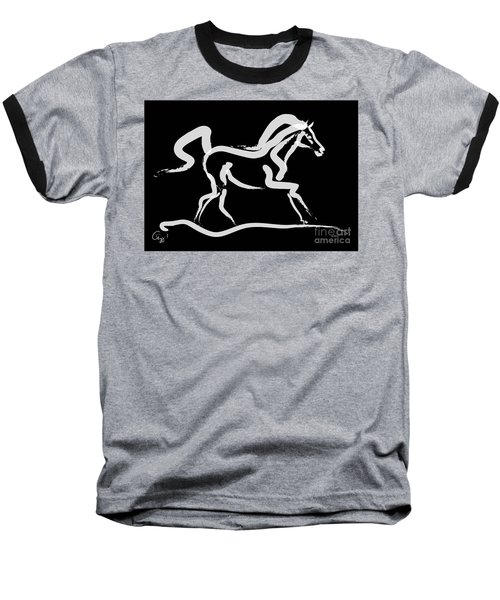 Horse-runner Baseball T-Shirt