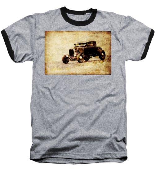 Hot Rod Ford Baseball T-Shirt by Steve McKinzie