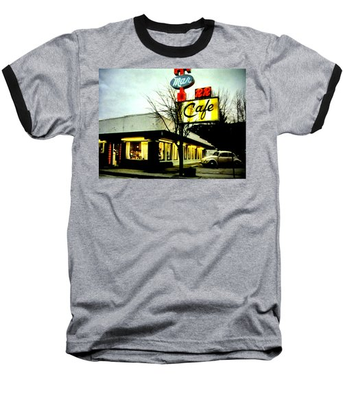 Baseball T-Shirt featuring the painting I Went For Breakfast At The Double R by Luis Ludzska
