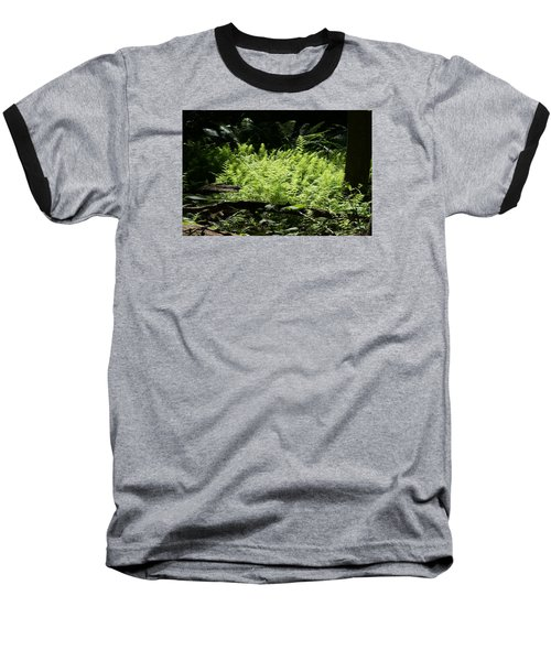 Baseball T-Shirt featuring the photograph In The Woods by Heidi Poulin